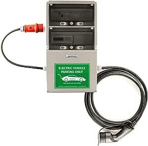 Wb24 Wallbox 3 Phasig 400v 11kw 16a Typ 2 5m Ladestation Mit Stromzähler Für Elektro Hybridautos Auto