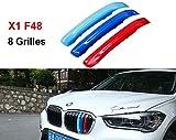 BMW X1F482016–20178griglie m Power m sport Tech Bonnet Hood Rene griglia Trim fibbia clip in inserti a righe strisce copertura Decor 3colori