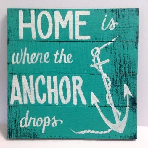 Monsety Home is Where The Anchor Drops Schild, für drinnen und draußen, für den Strand, Cottage