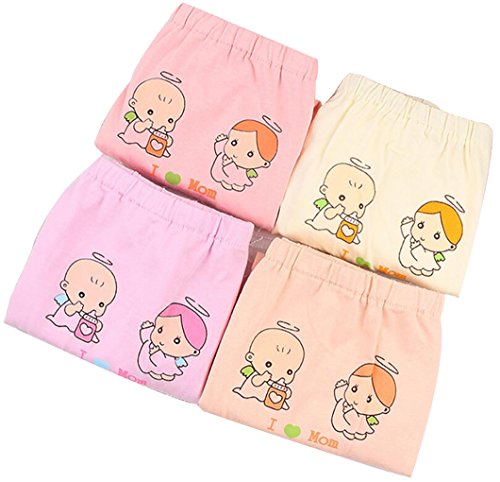 HorBous 2 Pack (I Love Mom) Women's Cartoon Adjustable Cotton High Waist Maternity Underwear Panties Briefs Pregnant Briefs Random Different Color (7-10 Monat)