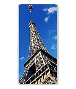 PrintVisa Designer Back Case Cover for Sony Xperia C4 Dual (Eiffel tower top look image)
