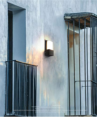 Kreative wasserdichte Wandleuchte im Freien, einfache Wandleuchte der geführten Persönlichkeit, Wandtreppenbalkon Innen- und Hotelbettwandleuchte im Freien-whitelight