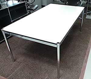 usm haller tisch fritz haller gestell stahl verchromt tischplatte eiche schwarz furniert b. Black Bedroom Furniture Sets. Home Design Ideas