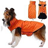 SUPEREX® Pet Dog Coat Jacket Hund costüm wasserdicht Hundepullover Hundemantel, Regenjacke Regenmantel Winterjacke Hundebekleidung Hundejacke winter Warm Wintermantel Hundemantel für kleine mittlere große Hunde