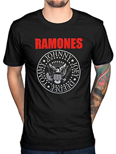 Ramones Eagle (Official Ramones Red Text Seal Logo T-Shirt)