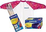 Pelikan Malschürze mit Klett-Verschluss und Tragebeutel für Kinder von ca.
