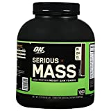Optimum Nutrition (ON) Serious Mass Weight Gainer Protein Powder - 6 lbs (Chocolate)