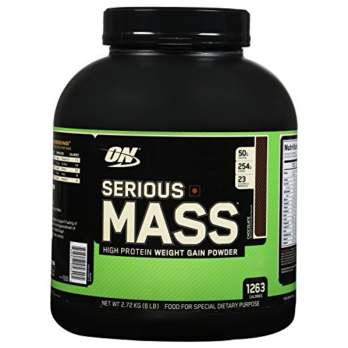 Optimum Nutrition (ON) Serious Mass Weight Gainer Powder - 6 lbs, 2.72 kg (Chocolate)