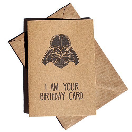 Funny birthday cards for boyfriend amazon i am your birthday card brown kraft funny birthday card inspired by star wars darth vader fan humorous greetings for every star wars fan husband bookmarktalkfo Gallery
