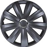 Autostyle Satz Radzierblenden Venture Pro 16-Zoll grijs + Chrom Ringe (Nylon)
