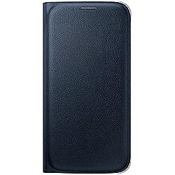 Samsung EF-WG920PBEG Etui Folio Type Porte-Feuille Aspect Cuir avec Compartiment pour CRougeit Card pour Samsung Galaxy S6 - Noir
