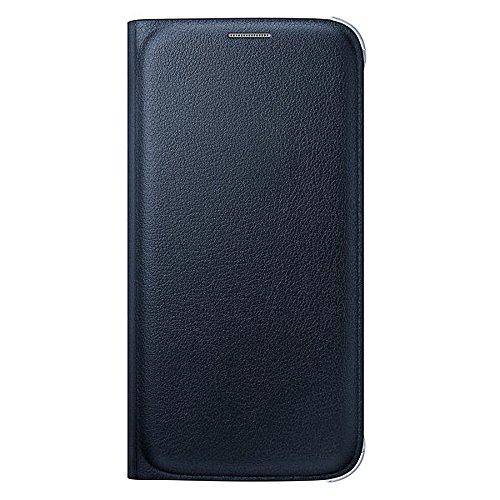 Samsung Leder-Effekt Flip-Case mit Kreditkartenfach für Galaxy S6, dunkelblau