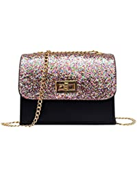 Blingg Twist Lock Sequined Glittery Party Purse Gift For Girls/Women