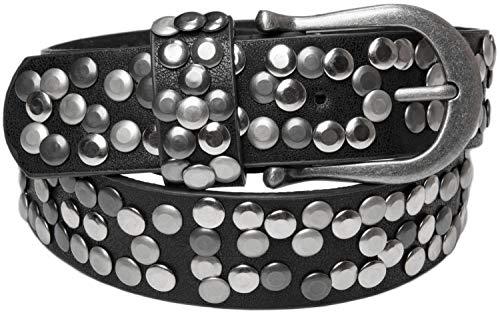 styleBREAKER Nietengürtel im Vintage Style, Gürtel kürzbar, Damen 03010008 (105cm, Antik-Schwarz)