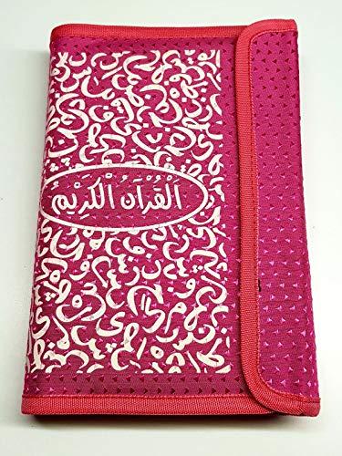 Koolkidzplus Ltd Schutzhülle im islamischen Koran Hält den Heiligen Koran geschützt mit Stifthalter 22 cm rose