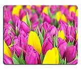 luxlady Natürliche Gummi Gaming Mousepads Schöne Bouquet of Bunte Tulpen Blumen Bild-ID 25992476