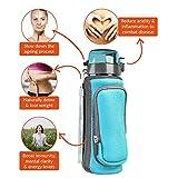 Invigorated Water – pH REVIVE – Trinkflasche mit Wasserfilter für basisches Wasser – mit Transporthülle – Aquablau – 750 ml - 3