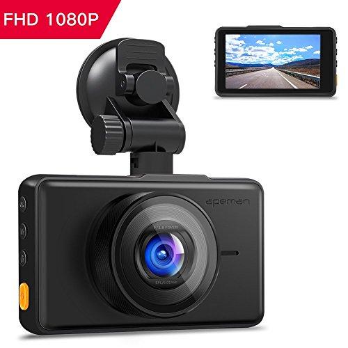 APEMAN Dash Cam 1080P FHD DVR Autokamera 3 'LCD-Bildschirm 170 ° Weitwinkel, G-Sensor, WDR,...