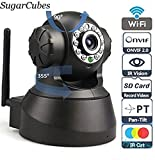 #3: WIRELESS HD IP CCTV CAMERA, SP-005 INDOOR SECURITY BABY MONITORING [Surveillance Camera] SUGARCUBES (Supports 128GB SD Card) ~ BLACK