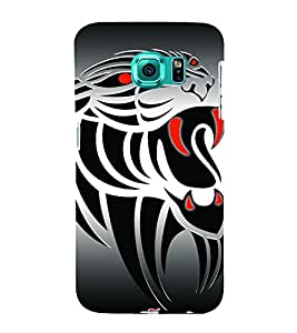 Animated Tiger Design 3D Hard Polycarbonate Designer Back Case Cover for Samsung Galaxy S6 Edge+ G928 :: Samsung Galaxy S6 Edge Plus G928F