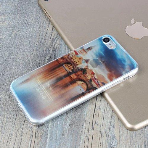 MOONCASE iPhone 7 Coque, Ultra Mince Motif Etui TPU Silicone Antichoc Housse Case pour iPhone 7 (Paysage 18) Paysage 06