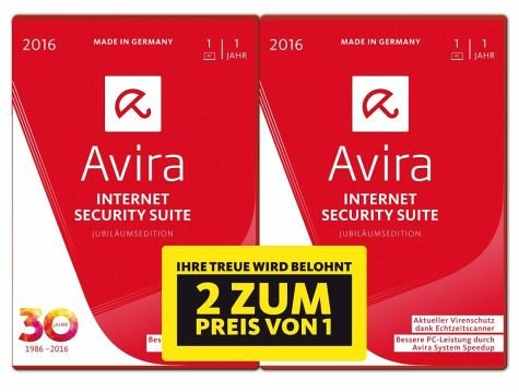 Avira Internet Security Suite 2016 1utente(i) 1anno/i Full license Tedesca