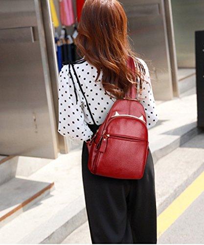 LAIDAYE Reisen Dual-Use-Anti-Diebstahl-Brust-Pack Red