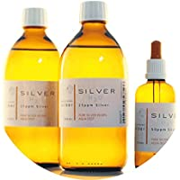Preisvergleich für PureSilverH2O 1100ml kolloidales Silber (2x 500ml/25ppm) + Pipettenflasche (100ml/50ppm) Reinheit & Qualität seit...