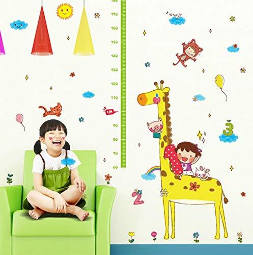 New crayon giraffe große höhe wandaufkleber für kinderzimmer dekor diy wandtattoo abnehmbare pvc mess aufkleber 140 * 180 cm
