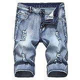 Votre magasin mondial Jean Slim - Noir Mode Loisirs Hommes déchiré Court Jeans...