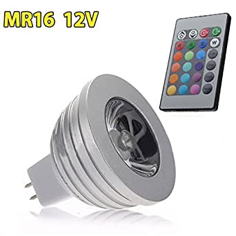 YG SET: LED RGB MR16 Sportlight color changing with remote control. Easy to Install. Just Plug and PLay!