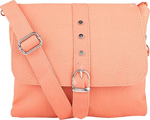 Typify Women's Multi Color Sling Cross Body bag (Peach)  available at amazon for Rs.299