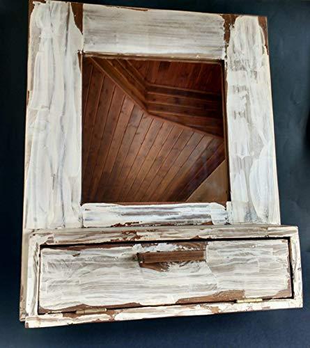 Mueble de baño de madera reciclada de palet hecho a mano