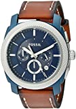 Fossil Men's Machine FS5232 Blue Leather Quartz Dress Watch