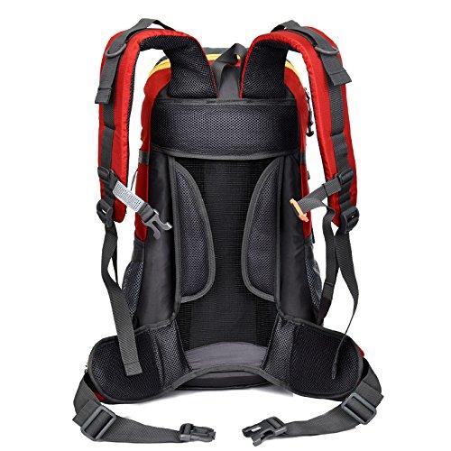 Una grande capacità di borsa di nuovo giorno all'aperto alpinismo zaino escursionismo campeggio pacchetto uomini e donne capacity45L 55 * 32 * 22 cm , red Black