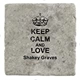Keep Calm and Love Shakey Graves – mattonelle di marmo bevanda sottobicchiere