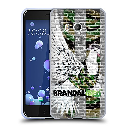 Preisvergleich Produktbild Offizielle Brandalised Taube Banksy Kunst Farbige Straßenkunst Soft Gel Hülle für HTC U11 / Dual