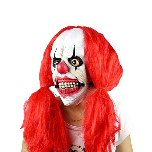 Halloween Party Terror Teufel Realistische Silikon Masken Horror Carnaval Ostern Frauen Rote Haare (Realistische Erwachsene Gorilla Kostüme)