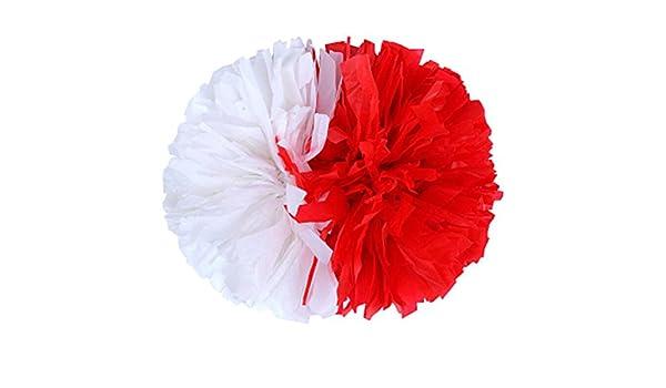 Gelegentliche Farbe Fliyeong 2 St/ücke Cheerleading Blume Ball Kunststoff Pompons f/ür Spiele Schule Sport Wettbewerb