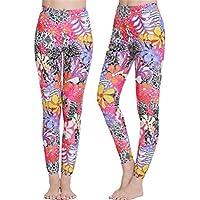 Fortuning\'s JDS® Señoras pluma impreso UPF 50+ pantalones natación snorkel larga de surf