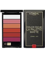 L'Oréal Paris Lip Palette Lippenstiftpalette Matte Bold, 1er Pack (1 x 6 g)