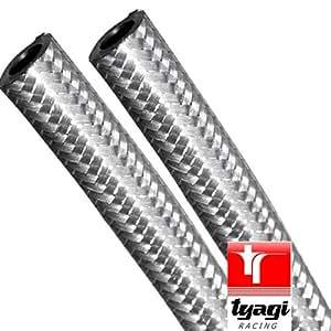 19 mm acier inoxydable TUYAU D'ESSENCE CARBURANT TRESSE longueur 1 mètre Tyagi Racing