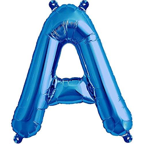 NorthStar Balloons-Ballon Aluminium Lettre A De 41Cm Non Gonflé De Couleur Bleu