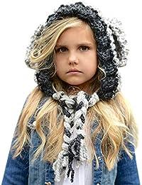 Liny Cappello a Maglia per Bambini - Ragazze Sciarpa Berretto Bambina  Invernale Cappello del Fumetto di 3149f8dc53ad
