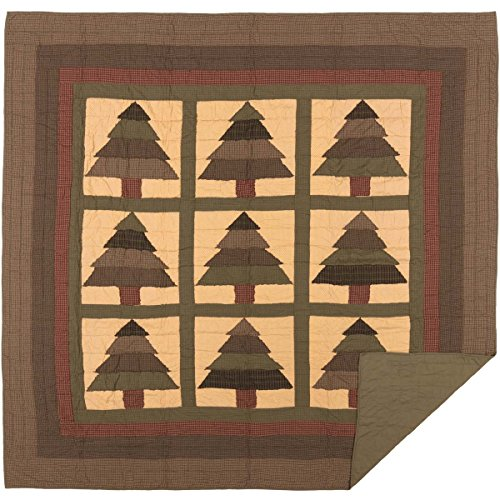 VHC Brands Steppdecke Hütte Queen grün (Queen-size-country Quilts)