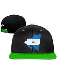 Tboylo Flag of Nicaragua Map Men Women Hip Hop Baseball Caps