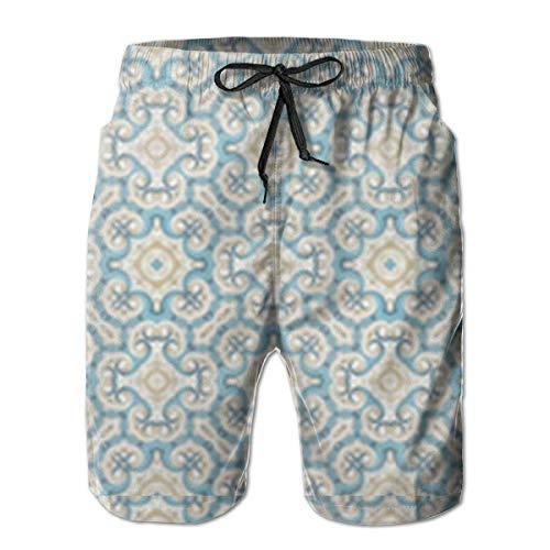 Mbefore Badehose für Herren Victorian Baroque Pattern Quick Dry Beach Board Shorts,XL