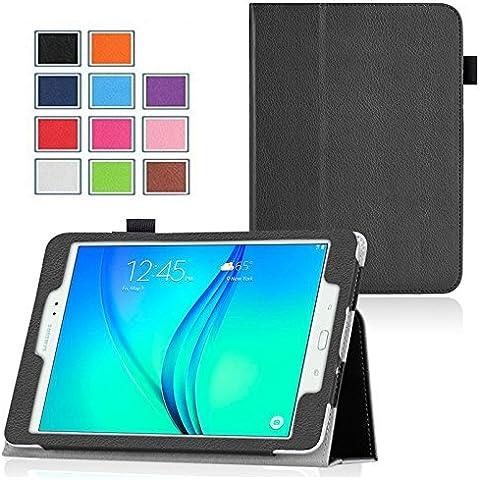 Ultra Slim Funda Piel Samsung Galaxy Tab a 10.12016/Tab A6WiFi/4G (T580/t585/t580N) móvil negro Cover con Stand–accesorios funda Tablet PC Carcasa XEPTIO Case (piel