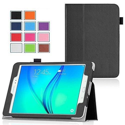 Samsung Wifi Galaxy 4g Tab (Ultra Slim Tasche Leder Samsung Galaxy Tab A 10.1 2016 / TAB A6 Wifi/4G (T580/T585/T580N) Hülle schwarz Cover mit Stand - Zubehör Etui Tablet PC Schutzhülle XEPTIO case (PU Leder))