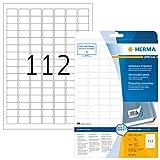 Herma 4211 Universal Etiketten ablösbar, wieder haftend (25,4 x 16,9 mm) weiß, 2.800 Klebeetiketten, 25 Blatt DIN A4 Papier matt, bedruckbar, selbstklebend, Movables